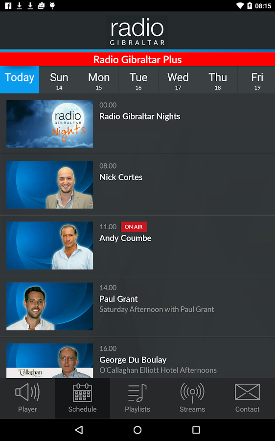 Radio Gibraltar- screenshot