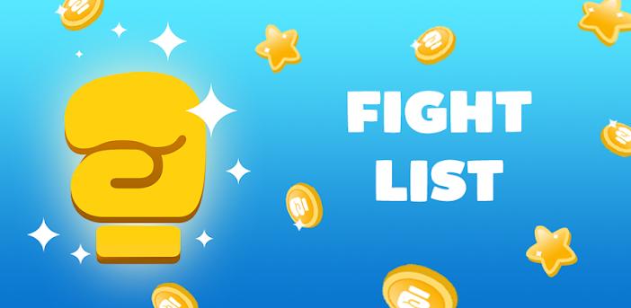 Fight List- Kategorien Spiel