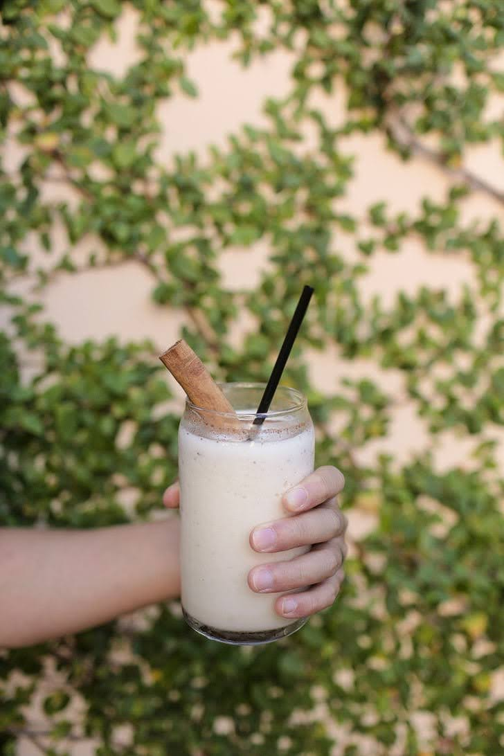 Peach Frozen Horchata at Puesto San Diego.