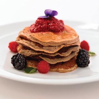 Flourless Pancakes With Berry Compote