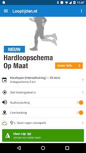 Looptijden.nl GPS hardloop-app Screenshot 2
