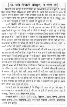 If sun will not rise essay in hindi