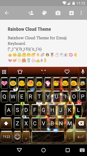 Golden Watch Emoji Keyboard