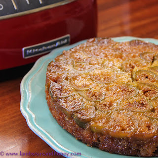 Upsidedown Fig and Ginger Cake
