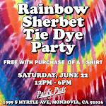 Rainbow Sherbet Tie Dye Party