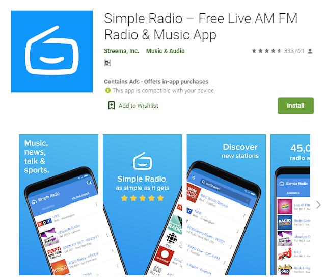 free radio streaming app without having internet