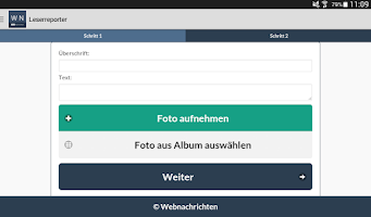 Screenshot of Webnachrichten
