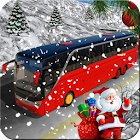 Amazing Christmas Tourist Bus Driving Simulator icon