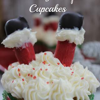"""Santa Legs """"Oops"""" Cupcakes"""