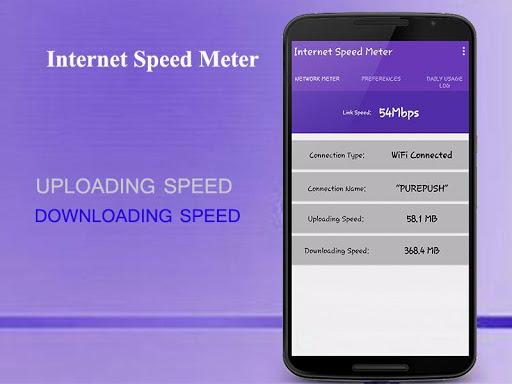 它给你的速度测试,你的互联网上传和下载速度