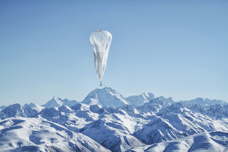 A high-altitude balloon floats over a remote area of New Zealand in this picture provided by Google, whose Loon project involves creating an airborne wireless network using balloons powered by the sun. Picture: REUTERS
