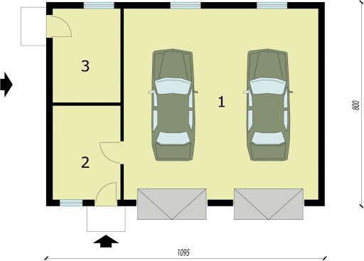 G198 - Rzut garażu