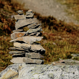 Inukshuk sur roche by Gérard CHATENET - Landscapes Travel