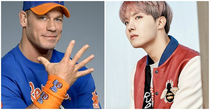John Cena Just Posted A Picture Of BTS J-Hope On His Instagram