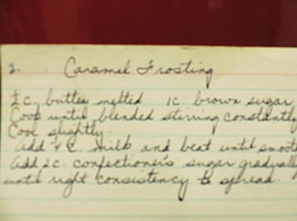 Caramel Frosting Recipe