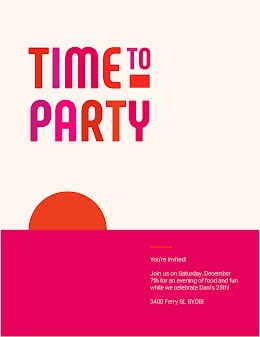Time to Party - Birthday Flyer item