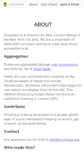 showhaus - the place for shows- screenshot thumbnail