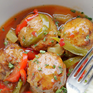 Slow Cooker Sweet and Sour Meatballs.