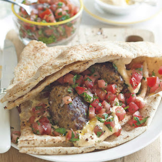 Burger Wraps with Tomato Parsley Salsa