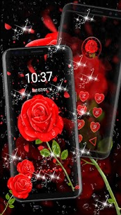 Raindrops Red Roses Theme - náhled