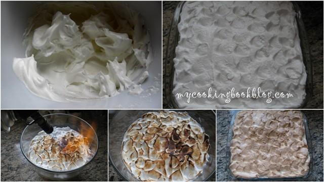 Крем или Трайфъл (Trifle) с ябълки и белтъчна глазура