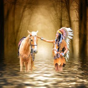 My Best Horse by Joey Bangun - Digital Art Things