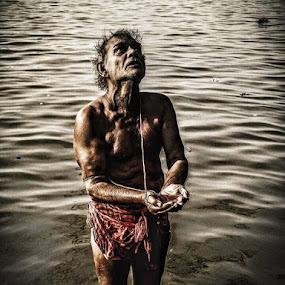 Spiritual  life  by Sumita Mehera - People Portraits of Men