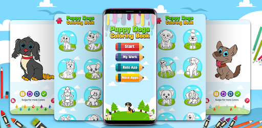 perfect app for those who want to be an artist & love coloring cute puppy dogs.