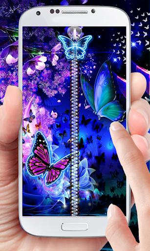 Butterfly Theme Zipper Lock