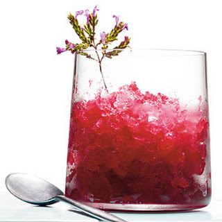 Cranberry-Whiskey Sour Slush.