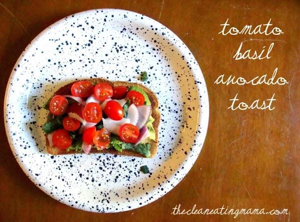Tomato Basil Avocado Toast Recipe