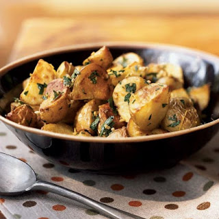 Garlicky Roasted Potatoes with Herbs.