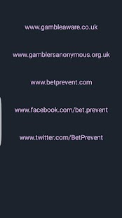 BetPrevent Gambling Help 365- screenshot thumbnail