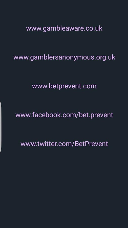 BetPrevent Gambling Help 365- screenshot