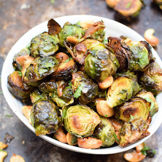 Asian Roasted Brussels Sprouts with Cashews [Vegan] [Gluten Free] Recipe