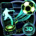 Neon Football Tech 3D Theme icon