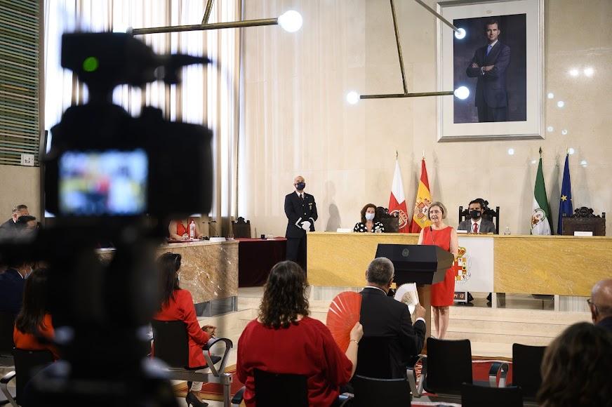 María Dolores Durán, durante su intervención en el Ayuntamiento,