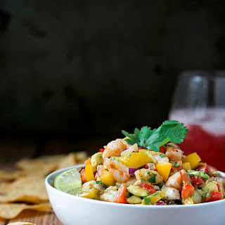 Cajun Salsa with Prawns and Avocado
