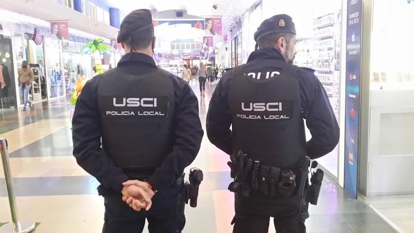 Miembros de la unidad de seguridad ciudadana de la Policía Local.