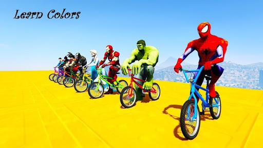 Superhero BMX Stunts Racing: Buggy Hill Heroes  screenshots 1