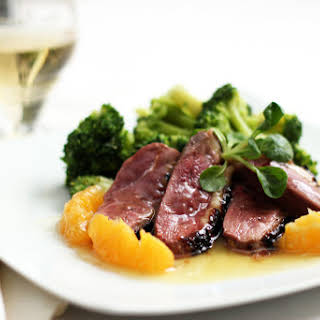 Honey Mustard Duck Breast with Orange Sauce.