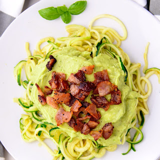 Avocado Bacon Zoodles.