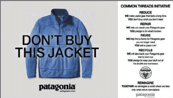 Patagonia's messaging has been earmarked as a good example by Elliott Rayner, Head of Product Marketing at Babbel.