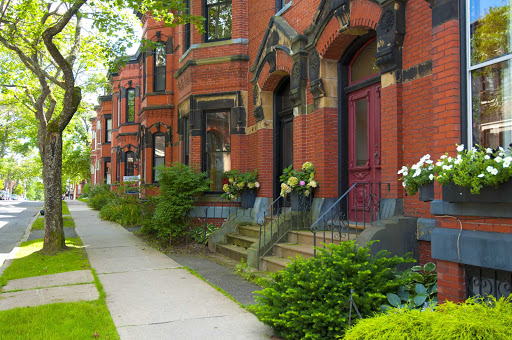 Admire the century-old buildings on Germain Street during your visit to Saint John, New Brunswick.
