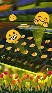 Garden Keyboard Theme - náhled