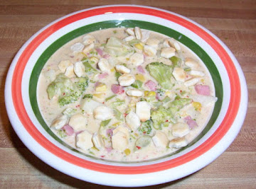 Cheesey Broccoli & Ham Corn Chowder Recipe