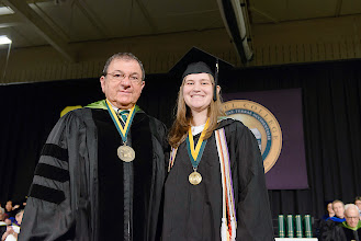 Photo: Christie Debelius, who receives her bachelor's degree in English summa cum laude, is the 2013 winner of the Ridington Writing Award.