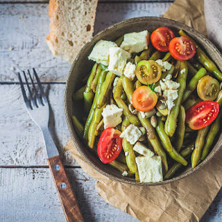 Balsamic Green Beans Salad with Feta Cheese Recipe