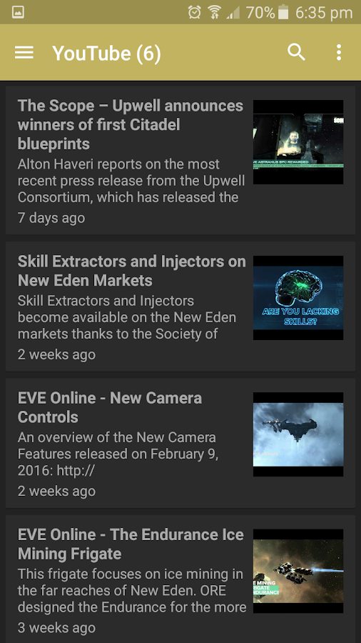 EVE News- screenshot