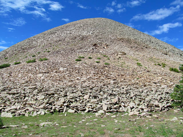 Base of the talus leading up Haystack Mountain
